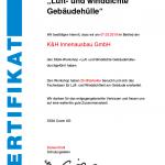 Siga Workshop Zertifikat zu Luft- und winddichte Gebaedehuellen