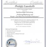 TTZ Zertifikat Phillip Eisenkolb