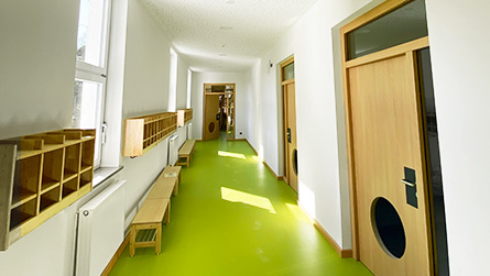 Flur des inklusiven Campus Duderstadt