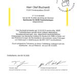 Zertifikat für das Sachkundeseminar für GEZE Feststellanlagen